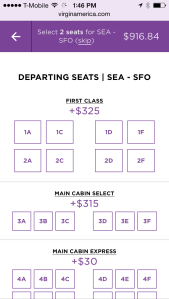 Seat selection - mobile
