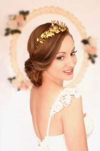 Greek Goddess Laurel Leaf Tiara by AnneMarguerite on Esty.com
