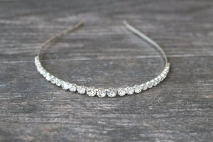 Simple Crystal Bridal Headband by EdenLuxeBridal on Etsy